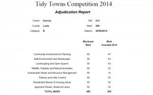 Tidy-Towns-2014-Durrow-Scorecard