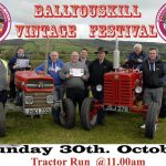 Big Weekend planned in Ballyouskill – October 29th and 30th 2016 🗓