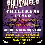 Childrens' Halloween Disco – October 27th 2017 🗓