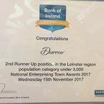 Bank Of Ireland Enterprising Town Award 2017 for Durrow