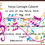 Harps Camogie Feile Cabaret this Bank Holiday Sunday – May 6th 2018 🗓 🗺