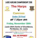 Harps U19s to contest County Hurling Final 2018 🗓 🗺