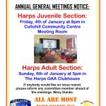 The Harps GAA Annual General Meetings 2019 Notice