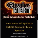 Harps Camogie to hold a Table Quiz this Good Friday – April 19th 2019 🗓