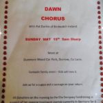 Dawn Chorus with Pat Durkin – May 19th 2019 🗓