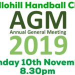 Handball Club AGM – November 10th 2019 🗓