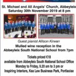 Local Allison Kirwan to perform at Abbeyleix Concert – November 30th 2019 🗓